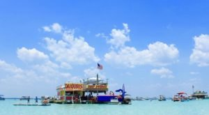 Reef Burger At Crab Island Is A Floating Florida Burger Joint You Have To See To Believe