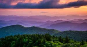 You Don't Want To Miss The Stunning Sunsets At Cowee Mountain Overlook In North Carolina