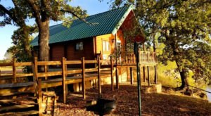 Settle Into A Cozy Cabin When You Stay Overnight At The Forested Cross Timbers State Park In Kansas