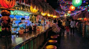 Sink Your Toes In The Sand At Saturn Room, A Tiki Bar In Oklahoma