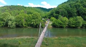 Crossing The Clinch River Swinging Bridge In Virginia Is An Exhilarating Adventure With Loads Of Scenery