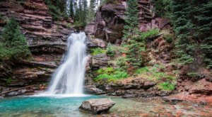 Plan A Visit To South Fork Mineral Creek, Colorado's Beautifully Blue Waterfall