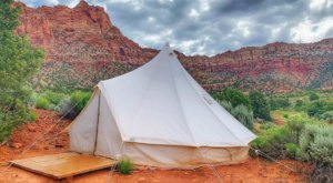 Camp In Luxury While Overlooking Red Rock Country And Zion National Park In Utah