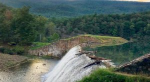 Enjoy Two Beautiful Waterfalls And A Manmade Beach At Douthat State Park In Virginia