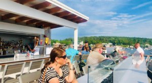 Take In An Unbeatable Bird's Eye View Of The Entire Harbor At The Tugboat Restaurant In Maine