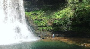 Swim At The Bottom Of A Multi-Tiered Waterfall After The 2-Mile Hike To Cascade Falls In Virginia