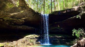 This Easy, 1.5-Mile Trail Leads To Coal Mine Branch Falls, One Of Alabama's Most Underrated Waterfalls