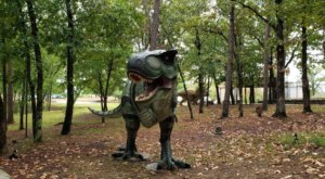 Travel To The Age Of Dinosaurs When You Explore The 21 Acres Surrounding The Mid-America Science Museum In Arkansas