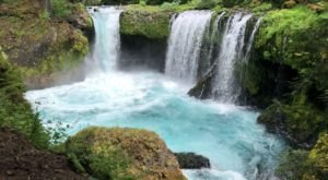 Plan A Visit To Spirit Falls, Washington's Beautifully Blue Waterfall