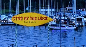 Experience An Incredible View And Delicious Food At Fire By The Lake, A Lakeside Restaurant In Alabama