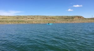 The Water Is A Brilliant Blue At Fort Peck Reservoir, A Refreshing Roadside Stop In Eastern Montana