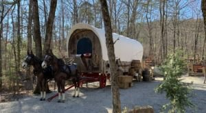 Spend The Night In A Covered Wagon In Arkansas
