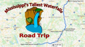 Spend The Day Exploring Mississippi's Tallest Falls On This Wonderful Waterfall Road Trip