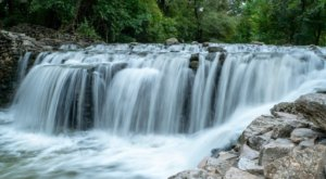 Plan A Visit To The Beautifully Blue Waterfall At Prairie Creek Park In Texas
