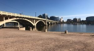 Follow A Sandy Path To The Waterfront When You Visit Tempe Beach Park In Arizona