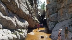 This Easy, 3-Mile Trail Leads To Curt Gowdy Hidden Falls, One Of Wyoming's Most Underrated Waterfalls