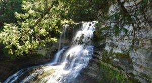 This Easy, Mile-Long Trail Leads To Laughing Whitefish Falls, One Of Michigan's Most Underrated Waterfalls