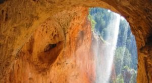 Plan A Visit To The Beautifully Blue Waterfall At Tonto Natural Bridge State Park In Arizona