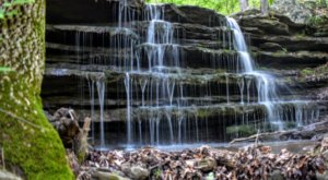 Don't Overlook The Multi-Tiered Waterfall Hiding At Lake Fort Smith State Park In Arkansas
