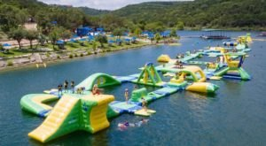 Waterloo Adventures Is A Floating Waterpark In Texas That's Fun For The Whole Family
