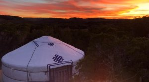 Glamp On A Secluded Hilltop With Gorgeous Panoramic Views At Yurtopia In Texas