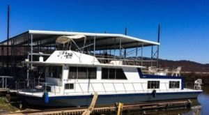 Spend The Night On A Docked Boat On This Vintage House Boat In Missouri