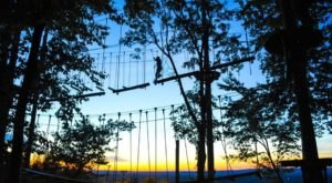 Fly Through A Forest Canopy In The Moonlight With Blue Mountain Resort's Night Time Zip & Climb In Pennsylvania