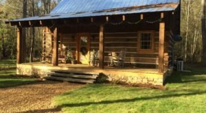 With A Waterfall Nearby, This Rustic Log Cabin In Mississippi Is Perfect For Getting In Touch With Nature