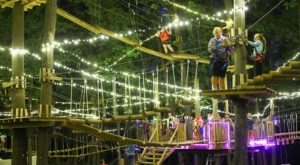Climb Among Colorful Lights During Glow In The Park At The Adventure Park In Connecticut