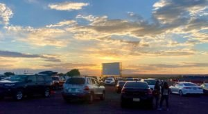 Watch A Flick Or A Concert From Your Car At Balloon Fiesta Park In Albuquerque, New Mexico