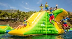 Rathbun Lake Aquapark Is A Floating Waterpark In Iowa That's Fun For The Whole Family