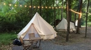 The Dreamy Yurts At Shawnee Inn Are In An Idyllic Setting, Making Them An Ideal Summer Destination In Pennsylvania