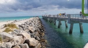 Enjoy A Waterfront Picnic Watching Boats Pass By At South Pointe Park In Florida
