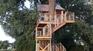 Stay In A Charming Nebraska Treehouse Cottage With Its Own Private Views