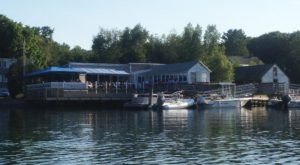 You Can Dock Your Boat And Walk Right Up To BG's BoatHouse, An Incredible Waterside Restaurant In New Hampshire
