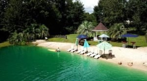 Relax In A Tropical Wonderland At The Biggest Freshwater Swimming Pond In Mississippi