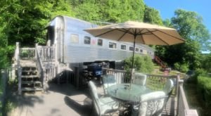 Spend The Night In A Historic Railcar Right On Skaneateles Lake In New York