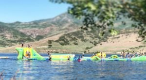 Island Aqua Park Is A Floating Waterpark In Utah That's Fun For The Whole Family