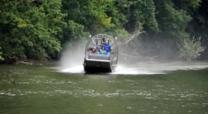 This Hatfield & McCoy Airboat Tour Of West Virginia's Tug Fork River Offers A New Take On An Old Feud