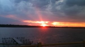 Pull Up A Chair And Watch An Incredible Lake Sunset While You Dine At Lighthouse Restaurant In Indiana