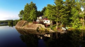 Forget The Resorts, Rent This Charming Waterfront Cottage In New Hampshire Instead