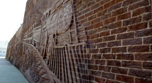 Small Town Kansas Is Home To The Longest 3-D Sculpted Brick Mural In The United States