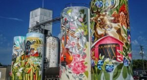 Indiana's Largest Silo Mural Is A Quintessential Roadside Attraction