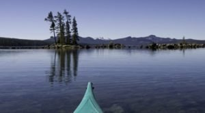 Oregon's Waldo Lake Is A Kayaker's Paradise with Clear Water And Islands To Explore