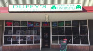 Bring Some Friends And Dive Into A Huge Fishbowl Drink At Duffy's Tavern In Nebraska