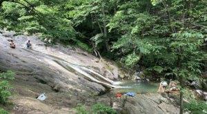 Follow A Shaded Trail To A Natural Waterslide When You Hike Cedar Run Falls In Virginia
