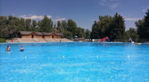 Relax In A Summertime Wonderland At The Biggest Freshwater Swimming Pool In Wyoming