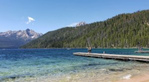 Wade In The Refreshing Waters On This Scenic Beach At Redfish Lake In Idaho