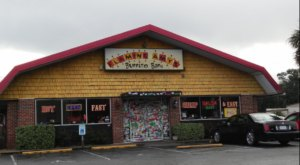 Fill Up On Giant Burritos Amid Kitschy Decor At Flaming Amy's Burrito Barn In North Carolina