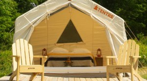 Stay In A Safari Tent When You Spend The Night At Sleeper State Park In Michigan